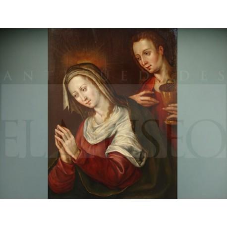 Escuela hispano-flamenca - San Juan y la Virgen