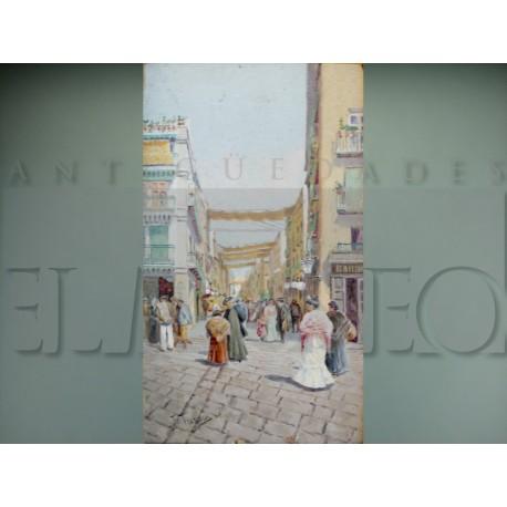 Joaquín Turina y Areal - Vista de la calle Sierpes