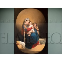 Virgen con Niño y San Juanito - Anónimo