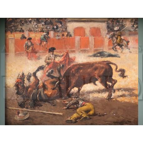 Andrés Gimeno - La cogida al picador