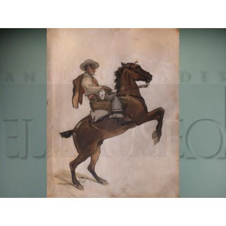 Francisco Hohenleiter - Bandit on horseback