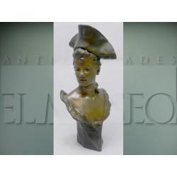 Georges Van der Straeten - Busto Art Nouveau de bronce