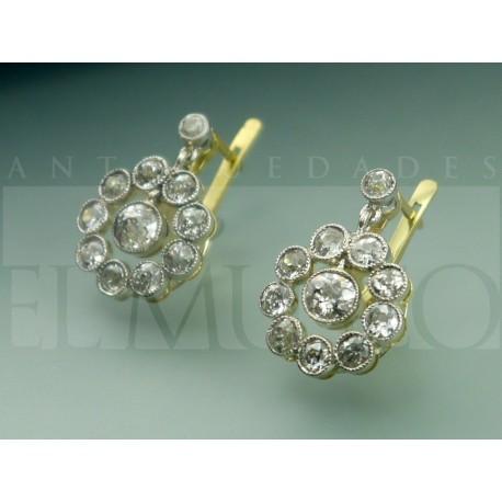 Rosetas eduardianas de diamantes