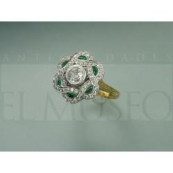 Original anillo Art Decó