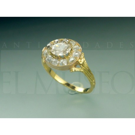 Precioso anillo francés de finales del S. XIX